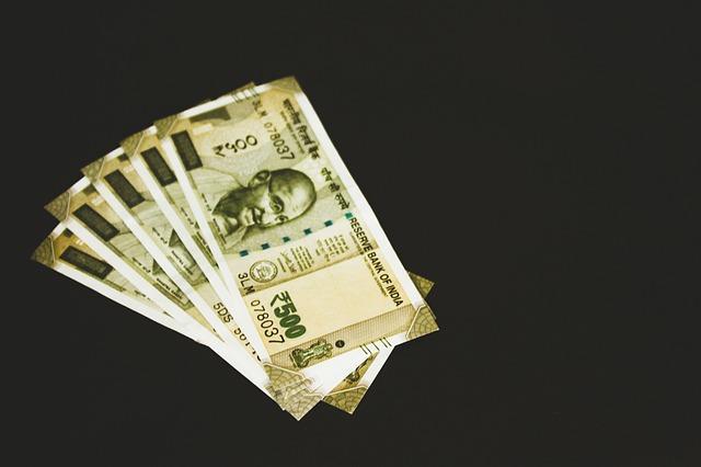 indické bankovky