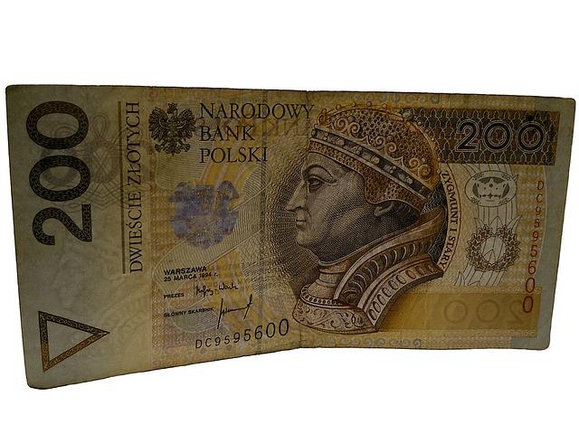 polské peníze, bankovka