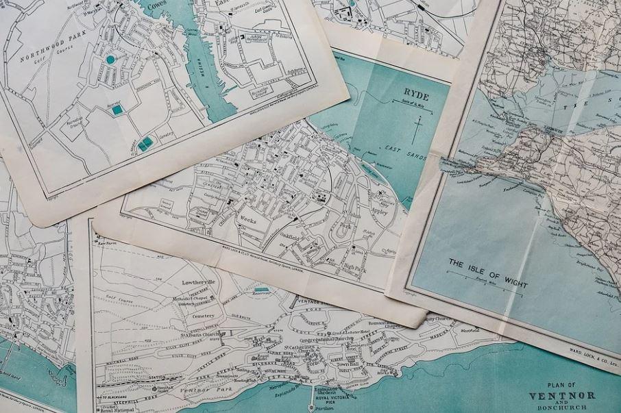 papírové mapy